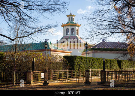 Chinese village in Alexander Park on a sunny autumn day, Tsarskoye Selo, St. Petersburg, Russia - Stock Photo