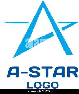 Abstract star vector logo template. - Stock Photo