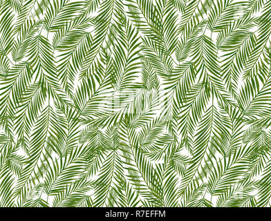 Tropical palm leaves, jungle leaf seamless  floral pattern background - Stock Photo