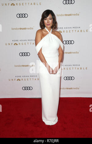 California, USA. 8th Dec, 2018. Lindsay Price, at Kore Asian Media's 17th Annual Unforgettable Gala at the Beverly Hilton on December 8, 2018 in Beverly Hills, California. Credit: Faye Sadou/Media Punch/Alamy Live News - Stock Photo