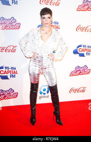 London, UK. 8th Dec 2018. Halsey at Capital's Jingle Bell Ball with Coca-Cola at London's O2. Night one of the sell-out event saw performances from global superstars Credit: Tom Rose/Alamy Live News - Stock Photo