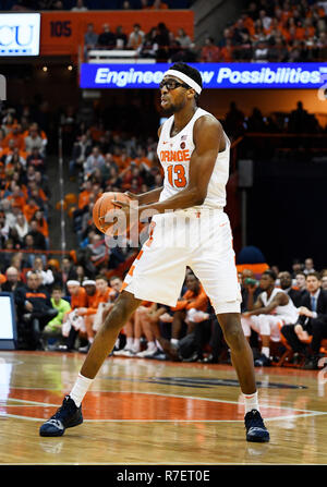 Syracuse, NY, USA. 8th Dec, 2018. Syracuse senior center Paschal Chukwu (13) during the first half of play as the Syracuse Orange defeated the Georgetown Hoyas 72-71 at the Carrier Dome in Syracuse, NY. Photo by Alan Schwartz/Cal Sport Media/Alamy Live News - Stock Photo