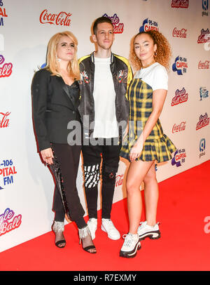 Paloma Faith, Sigala and Ella Eyre arrives at Capital's Jingle Bell Ball with Coca-Cola at London's O2 Arena on 9th December 2018, London, UK. Credit: Picture Capital/Alamy Live News - Stock Photo