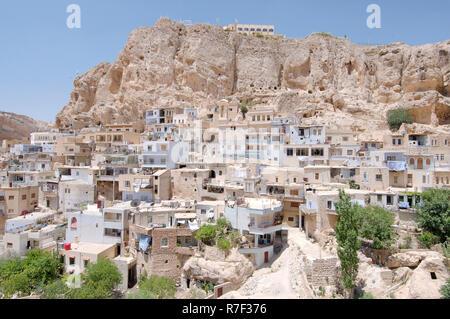 Townscape, Maalula, Ma'loula, Syria - Stock Photo