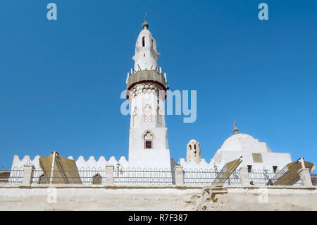 Abu el-Haggag Mosque inside Luxor Temple Complex, ancient Thebes, Luxor, Luxor, Luxor Governorate, Egypt - Stock Photo