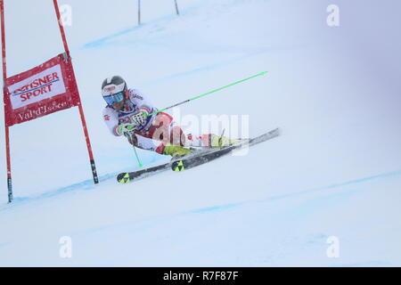 08 Dec. 2018 Val d'Isère, France. Roland Leitinger of Austria skiing men's Giant Slalom Audi FIS Alpine Ski World Cup 2019 Sport WinterSports - Stock Photo