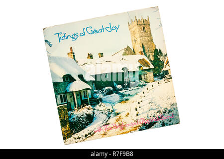 1978 7' Christmas single, Tidings of Great Joy by the Brighouse And Rastrick Brass Band. - Stock Photo