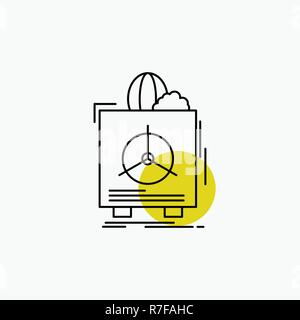 insurance, Fragile, product, warranty, health Line Icon - Stock Photo