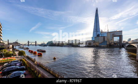 The Shard and the River Thames. London. UK Stock Photo