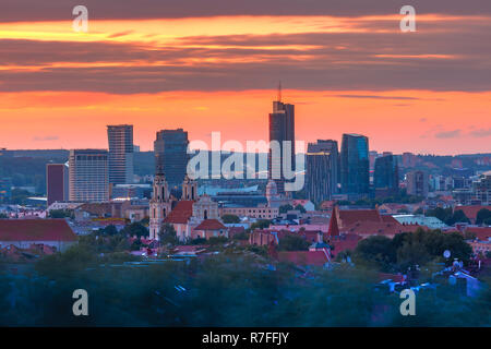 Old town and skyscrapers, Vilnius, Lithuania