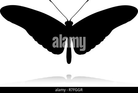 Butterfly Insect Animal Silhouette - Stock Photo
