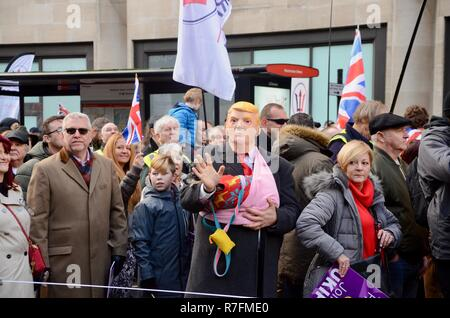 Brexit betrayal UKIP march with man in donald trump mask in central london 9th december 2018 - Stock Photo