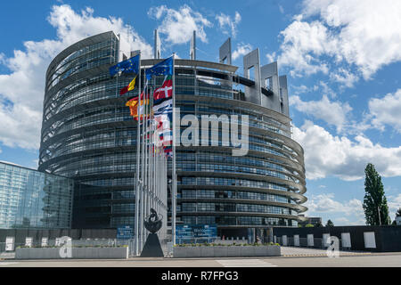 EU parliament, Strasbourg, Alscace, France - Stock Photo
