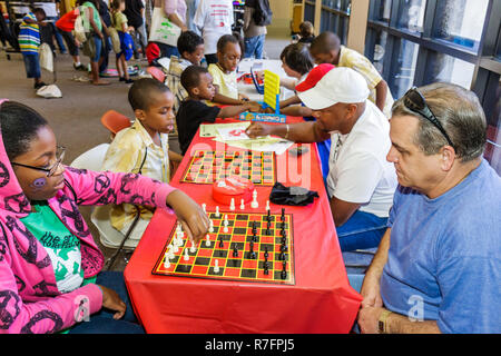 Miami Florida Cultural Center Plaza Main Public Library The Art of Storytelling International Festival family event Teen Zone Bl - Stock Photo
