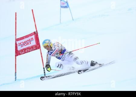 08 Dec. 2018 Val d'Isère, France. Felix Neureuther of Germany competing in men's Giant Slalom Audi FIS Alpine Ski world Cup 2019 Skiing Racing - Stock Photo