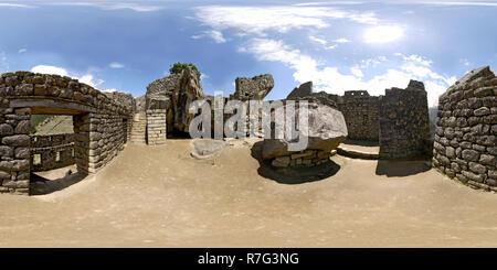 The Temple of the Condor - Machu Picchu, Peru - Stock Photo