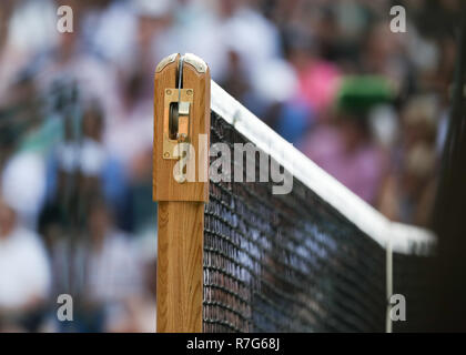 Close up of net post at Wimbledon, London, Great Britain, United Kingdom. - Stock Photo