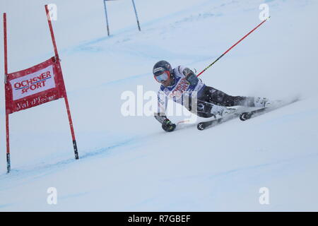 08 December 2018 Val d'Isère, France. Ted Ligety Alpine Skier from USA competing in men's Giant Slalom Audi FIS Alpine Ski World Cup 2019 - Stock Photo