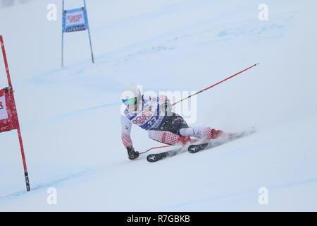 08 Dec. 2018 Val d'Isère, France. Filip Zubcic alpine skier from Croatia competing in men's Giant Slalom Audi FIS Alpine Ski World Cup 2019 - Stock Photo
