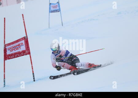 Zubcic Filip Croatia competing in Val d'Isère men's Giant slalom Audi Fis Alpine Ski World Cup 2019 - Stock Photo