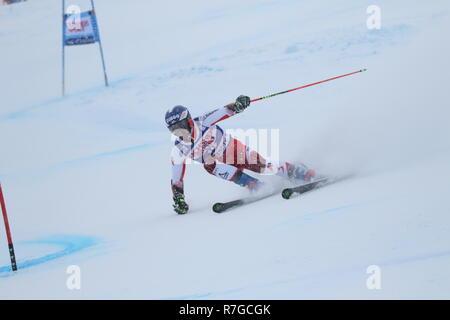 08 Dec. 2018 Val d'Isère, France. Philipp Schoerghofer of Austria competing in men's Giant Slalom Audi FIS Alpine Ski World Cup 2019 wintersports ski - Stock Photo