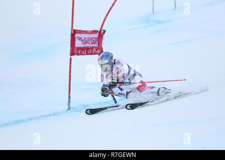 08 December 2018 Val d'Isère, France. Alexis Pinturault of Courchevel, France competing in Giant Slalom for the Audi Fis Alpine Ski World Cup 2019 - Stock Photo