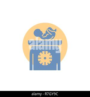 weight, baby, New born, scales, kid Glyph Icon. - Stock Photo