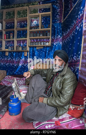Traditional Street Doctor, Kabul, Kabul Province, Afghanistan - Stock Photo