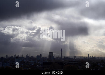London UK City Skyline - Stock Photo