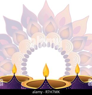 indian candles decoration - Stock Photo