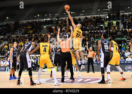 Turin, Italy. 8th Dec 2018. During the LEGA BASKET SERIE A 2018/19 basketball match between FIAT AUXILIUM TORINO vs DOLOMITI TRENTO at PalaVela on 8th Dicember, 2018 in Turin, Italy. Credit: FABIO PETROSINO/Alamy Live News - Stock Photo