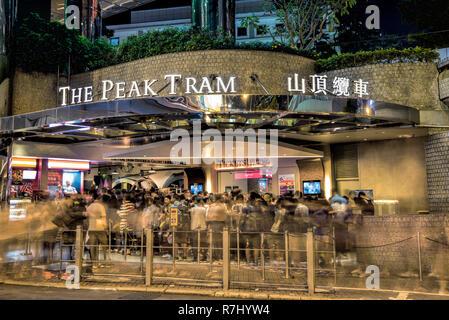 The Peak Tram, Hong Kong, China. - Stock Photo