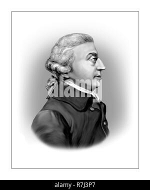 Adam Smith  1723 - 1790  Scottish Economist Author Philosopher - Stock Photo