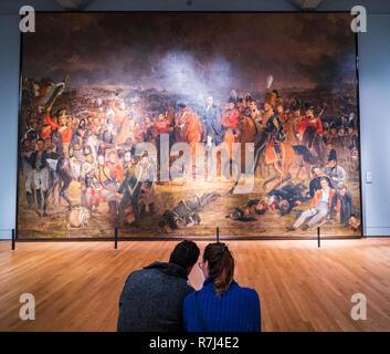 The Battle of Waterloo, Jan Willem Pieneman, 1824 - Rijksmuseum, Amsterdam, Netherlands - Stock Photo