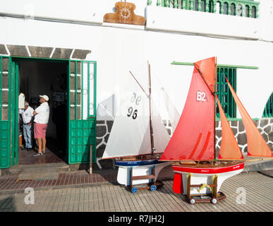 Radio controlled model boats club in Arrecife on Lanzarote - Stock Photo