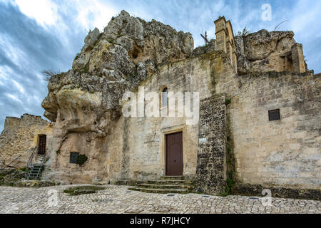 rupestrian church Santa Maria di Idris church, Matera, European Capital of Culture - Stock Photo