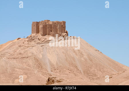 Fakhr-al-Din al-Maani Castle, a medieval Arab fortress, UNESCO World Heritage Site, Palmyra, Tadmur, Palmyra District - Stock Photo