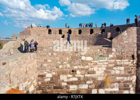 Ankara Kalesi, fortress, Altindag, Ankara, Turkey - Stock Photo