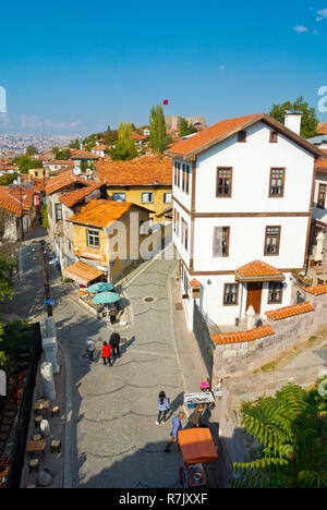 Kale, district on hills around Ankara Kalesi, the fortress, Altindag, Ulus, Ankara, Turkey - Stock Photo