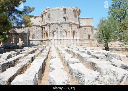 Ruins of the Church of Saint Simeon Stylites, near Aleppo, Syria - Stock Photo