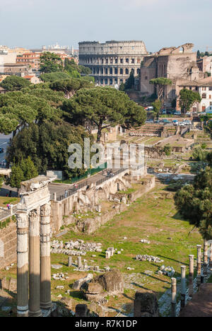 The Roman Forum (Latin: Forum Romanum) in Rome, Italy - Stock Photo