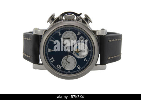 Chronograph watch isolated white background - Stock Photo