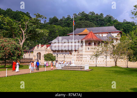 Temple of the tooth in Kandy - Stock Photo