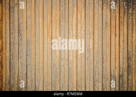 Rusted and old corrugated iron, perfect for grunge texture or background. - Stock Photo