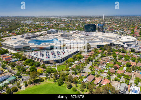 Aerial view of Chadstone Shopping Centre - Stock Photo
