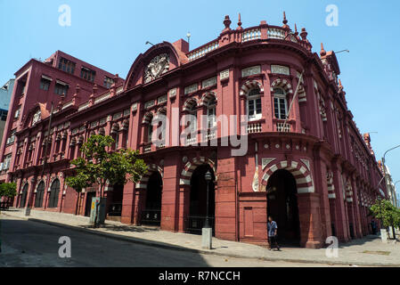 Colombo, Sri Lanka, 02/16/2014: Colonial-style mansion on a street in the city of Colombo - Stock Photo