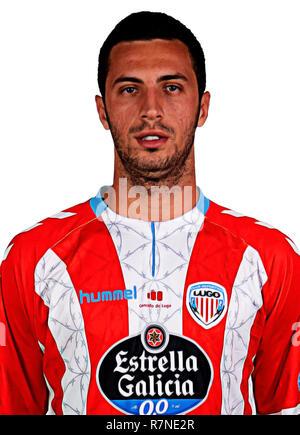 Spain - La Liga 123 _ 2018-2019 /  ( C.D. Lugo ) -  Giorgi Aburjania - Stock Photo