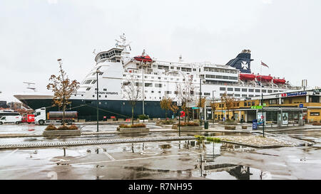 Oslo, Norway - September 27, 2018: The cruise ship 'Crown seaways' following the route Copenhagen, Denmark and Oslo, Norway. - Stock Photo
