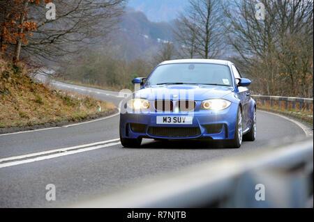 E87 shape BMW 1M Coupe - 1 Series M Car, German performance car - Stock Photo