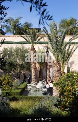 he Secret Garden Marrakech, aka Le Jardin Secret, garden museum, Marrakesh medina, Marrakech Morocco North Africa - Stock Photo